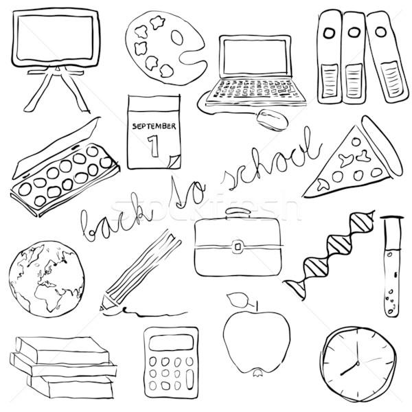 doodle school images Stock photo © glorcza