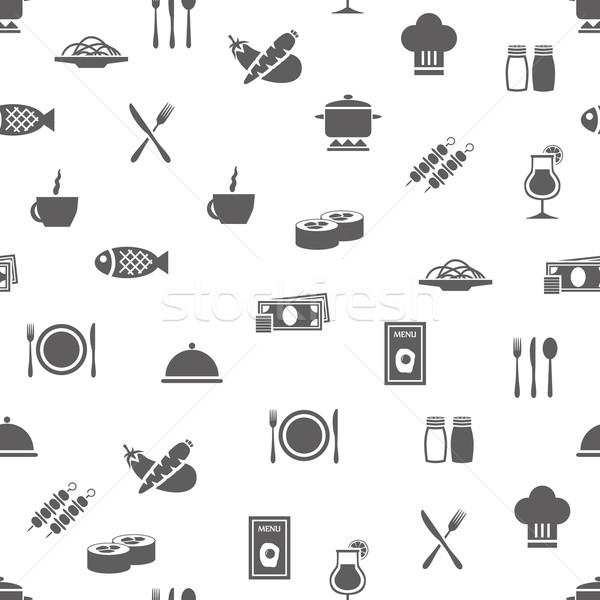 restaurant seamless pattern Stock photo © glorcza