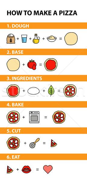 how to make a pizza Stock photo © glorcza