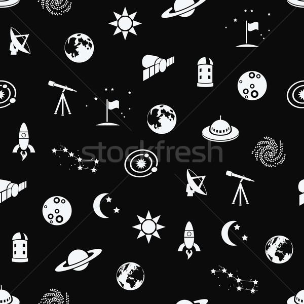 seamless space patter Stock photo © glorcza