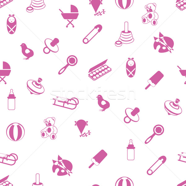 baby icons pattern Stock photo © glorcza