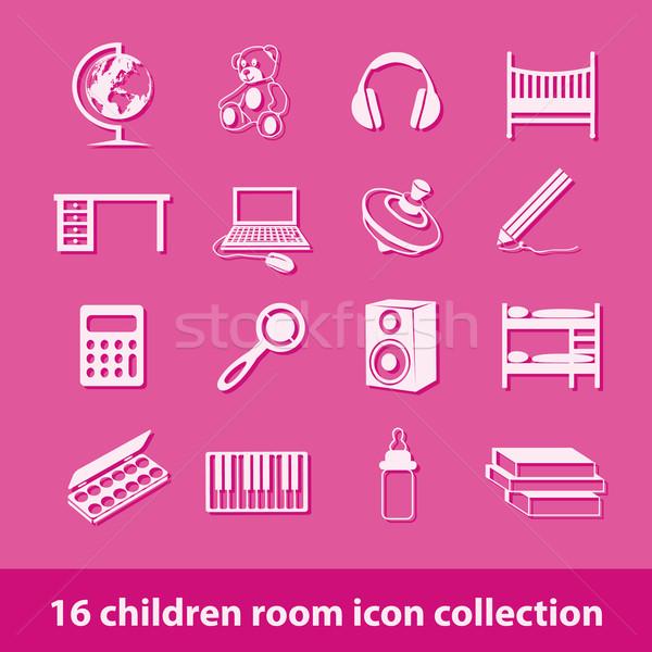 children room icons Stock photo © glorcza