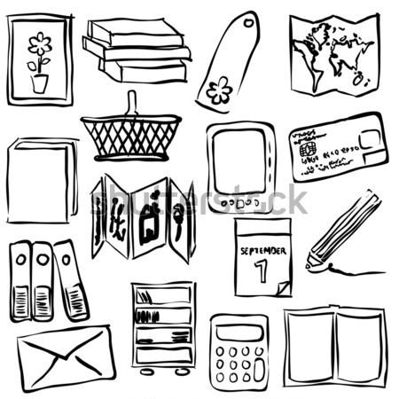 sketch bookshop seamless pattern Stock photo © glorcza