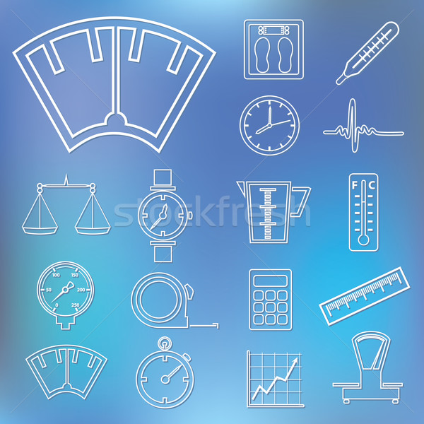 measuring outline icons Stock photo © glorcza
