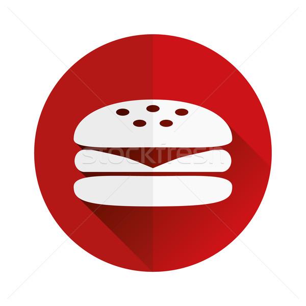 Hamburger icona design formaggio informazioni grafica Foto d'archivio © glorcza