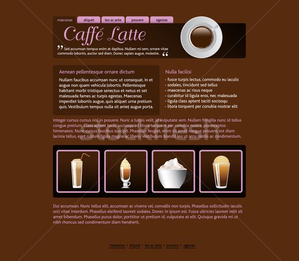 coffee house template Stock photo © glorcza