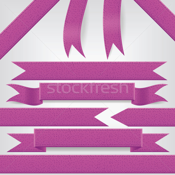 set of violet ribbons Stock photo © glorcza