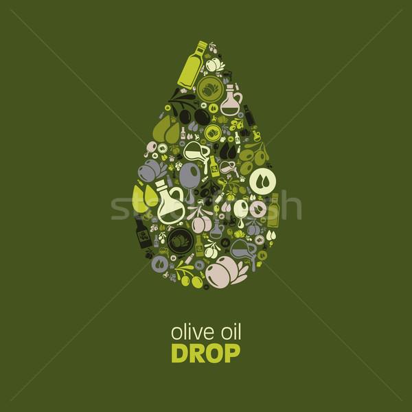 olive oil drop Stock photo © glorcza
