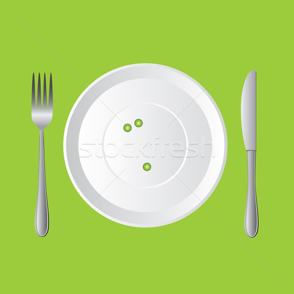 Tre piselli fresche verde bianco piatto Foto d'archivio © glorcza