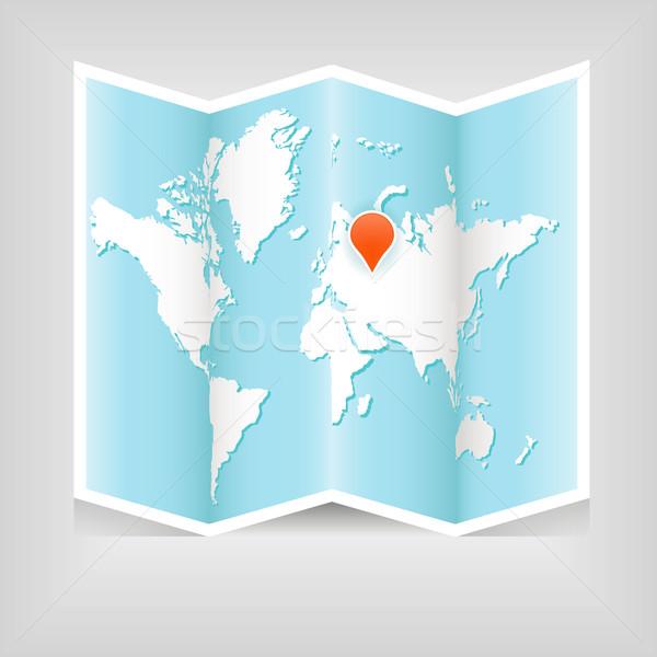 Mapa mapa do mundo mundo fundo laranja assinar Foto stock © glorcza