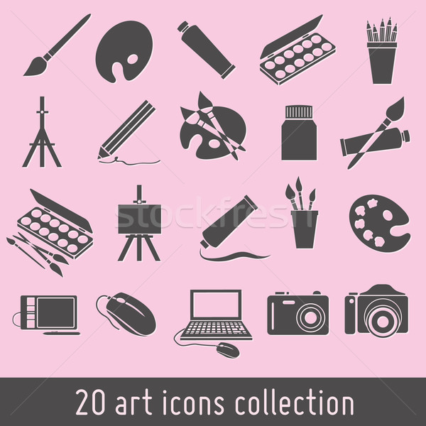 art icons Stock photo © glorcza