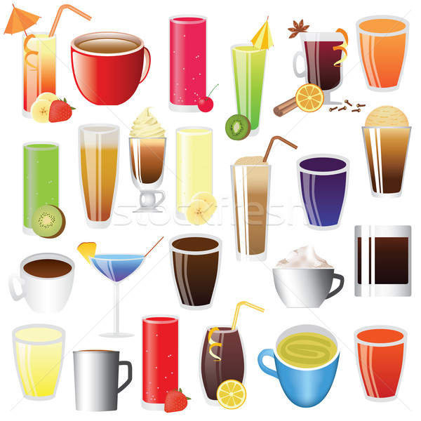 Stock photo: drinks set