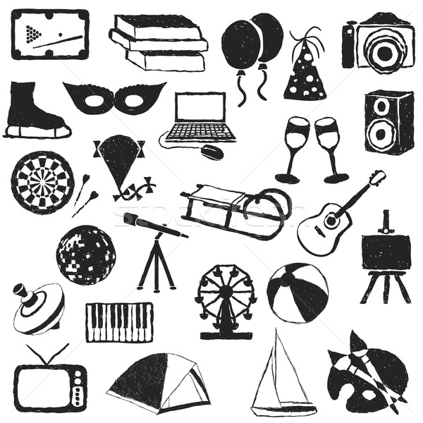 doodle entertainment images Stock photo © glorcza