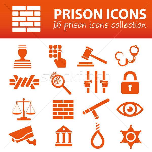 prison icons Stock photo © glorcza