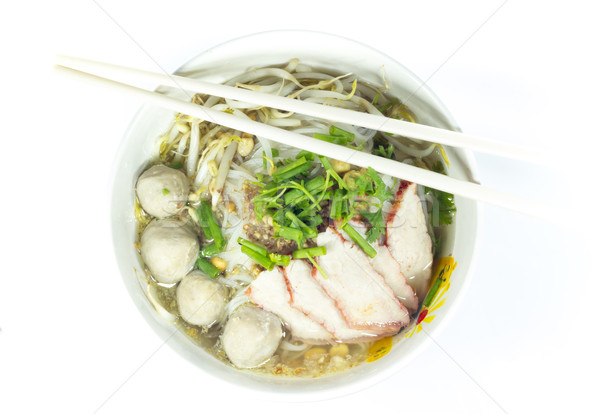 Pequeno tigela delicioso comida jantar Foto stock © Gloszilla