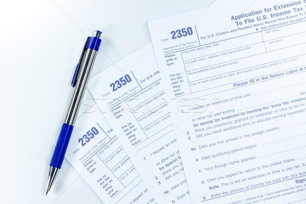 U.S. income tax form Stock photo © Gloszilla