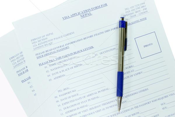 Tömés VISA üzlet toll biztonság felirat Stock fotó © Gloszilla