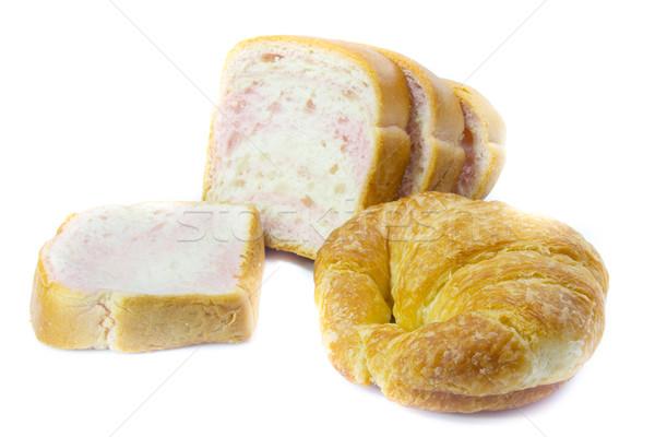 Trigo pão croissants branco comida Foto stock © Gloszilla