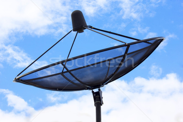 satellite dish antennas under sky Stock photo © Gloszilla