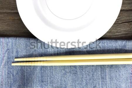 Madeira placas colheres texto Foto stock © Gloszilla