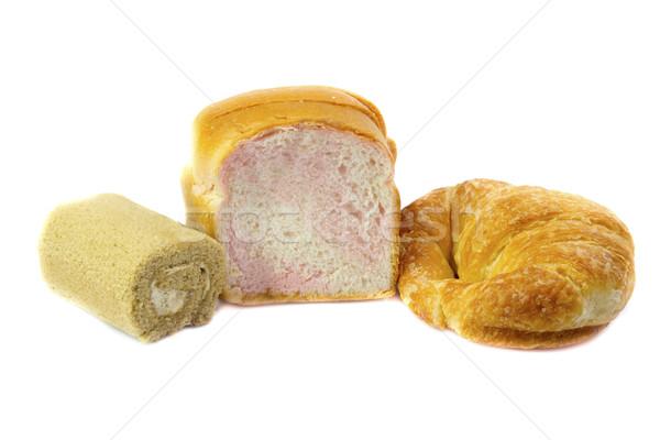 Trigo pão croissants bolo rolar Foto stock © Gloszilla