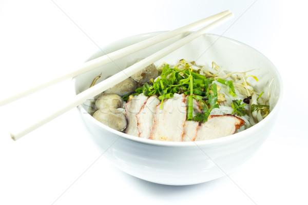 Stok fotoğraf: Küçük · çanak · lezzetli · makarna · gıda · akşam · yemeği