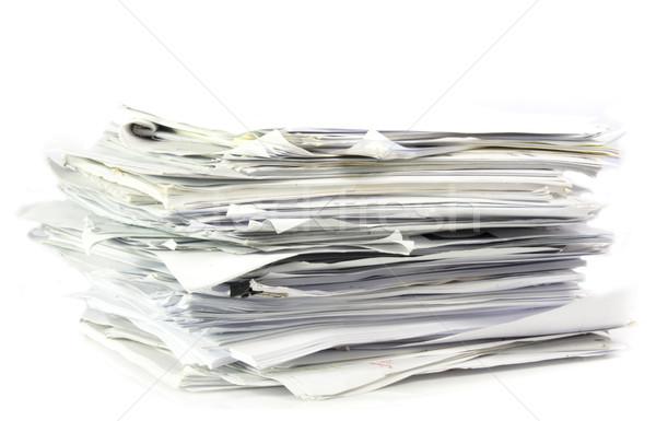 Para cima trabalho de escritório documentos escritório fundo mídia Foto stock © Gloszilla