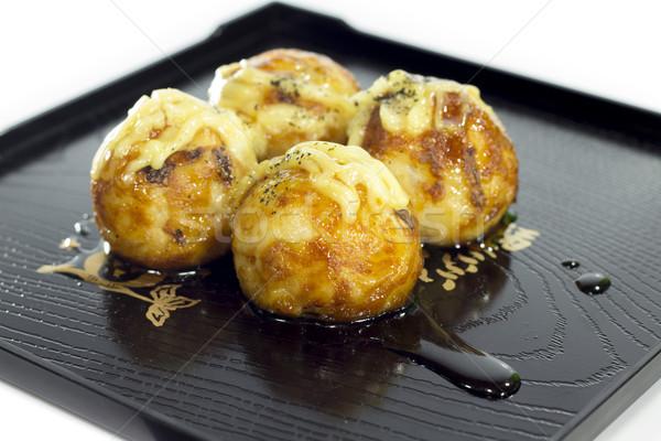 Delicioso sobremesa doces branco prato asiático Foto stock © Gloszilla
