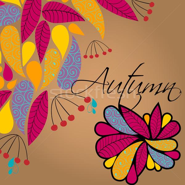 Sevimli sonbahar örnek vektör renkli Stok fotoğraf © glyph