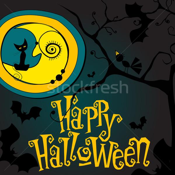 Cute Halloween illustration Stock photo © glyph