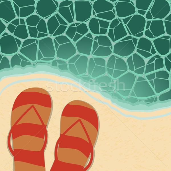 Stock photo: Retro beach illustration