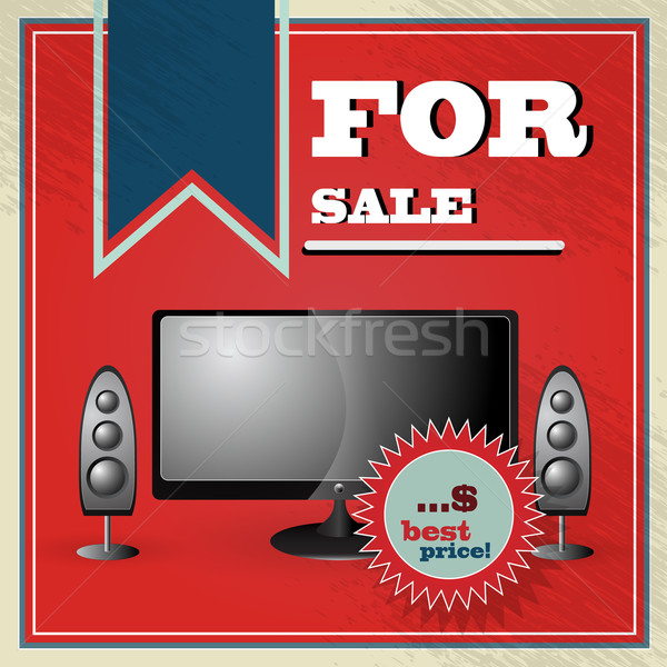Elegant vintage best price offer for lcd tv with speakers Stock photo © glyph