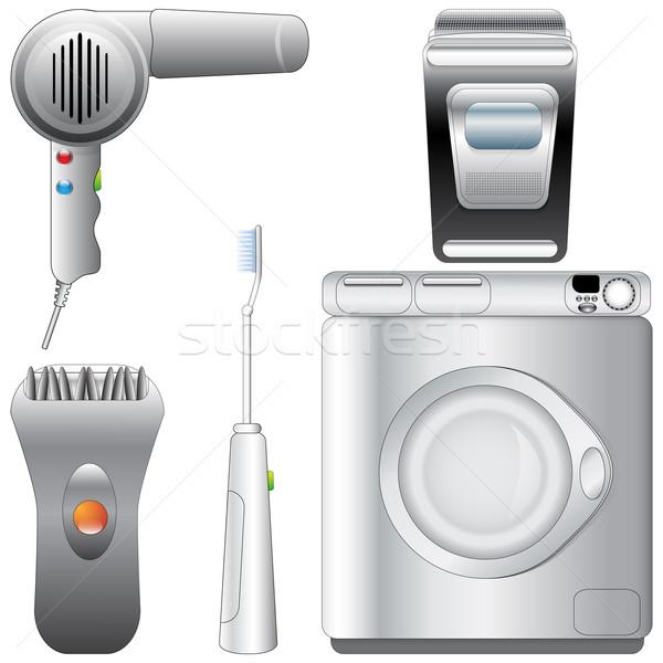 Ayarlamak gerçekçi ayrıntılı banyo vektör Stok fotoğraf © glyph