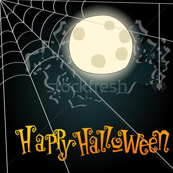 Halloween pajęczyna ilustracja wektora stylu Zdjęcia stock © glyph
