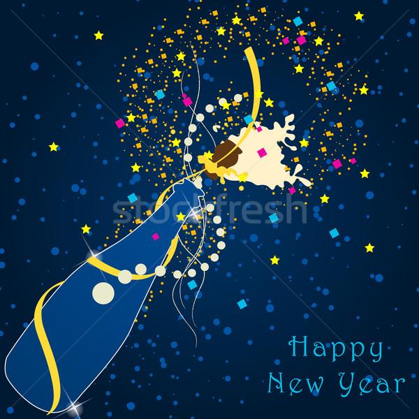 Beautiful New Year's Illustration Stock photo © glyph