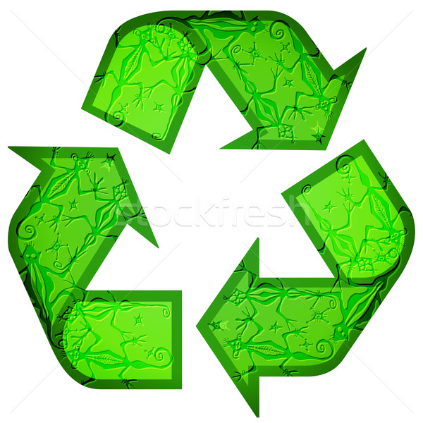 Recycle symbol made of animals Stock photo © glyph
