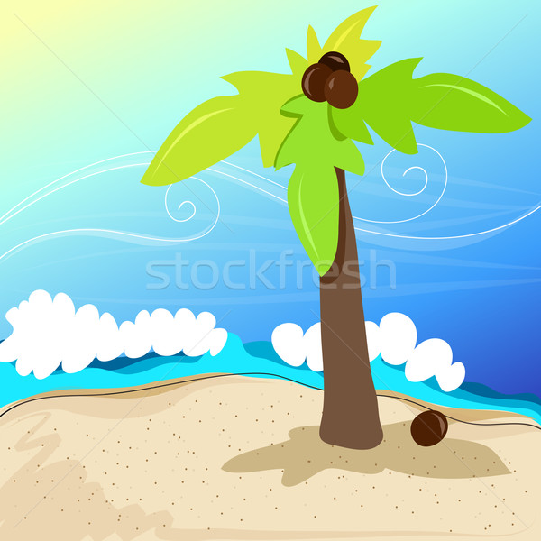 Cute tropical beach Stock photo © glyph