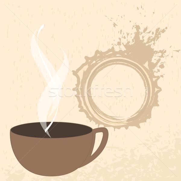 кофе иллюстрация вектора современных Гранж шоколадом Сток-фото © glyph
