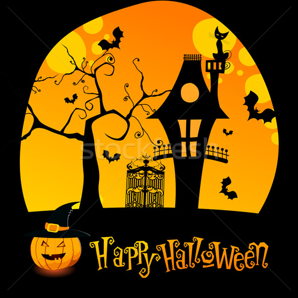 Halloween illustration with Jack O'Lantern Stock photo © glyph