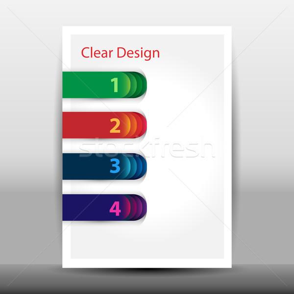 örnek modern tasarım şablonu seçenekleri web kurumsal Stok fotoğraf © glyph