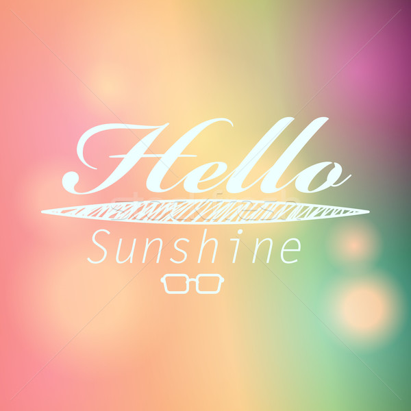 Colorful blurred hipster summer background with text Stock photo © glyph
