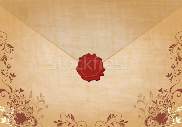 Beautiful floral vintage envelope illustration Stock photo © glyph