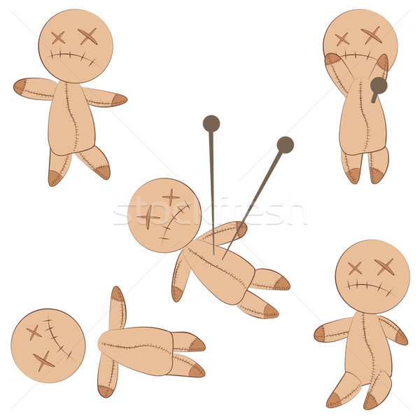 Cute voodoo dolls Stock photo © glyph
