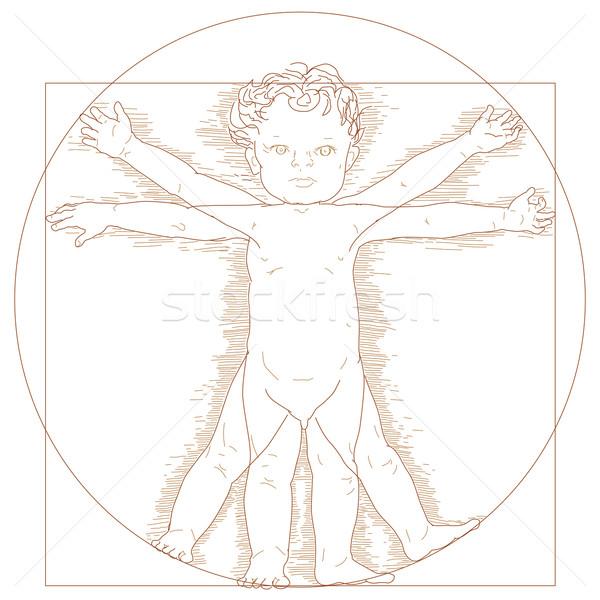 Vitruvian child  Stock photo © glyph