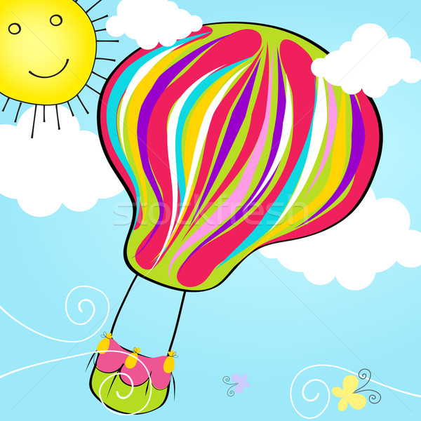 The Best Cute Hot Air Balloon Illustration JPG