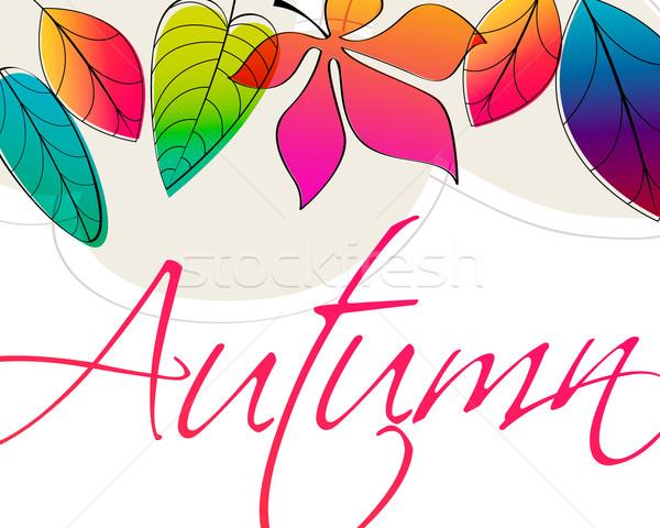 Sevimli sonbahar örnek vektör stil Stok fotoğraf © glyph
