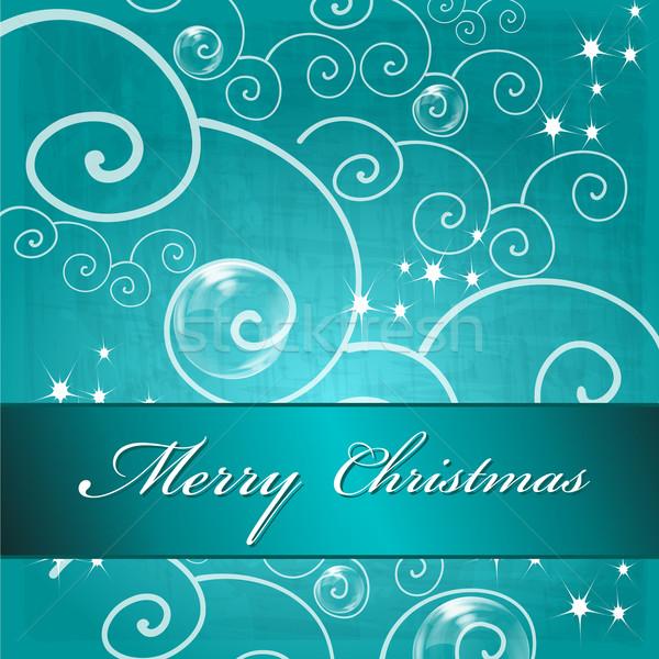 Aranyos karácsony üdvözlőlap vektor kézzel rajzolt stílus Stock fotó © glyph