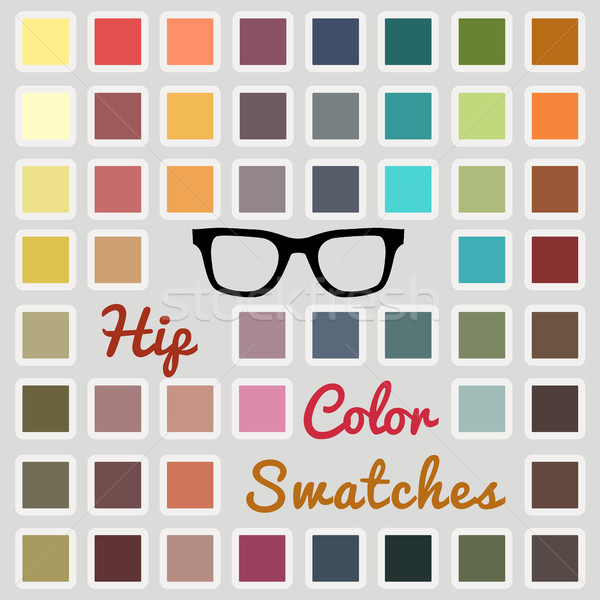 Set of cool color swatches Stock photo © glyph