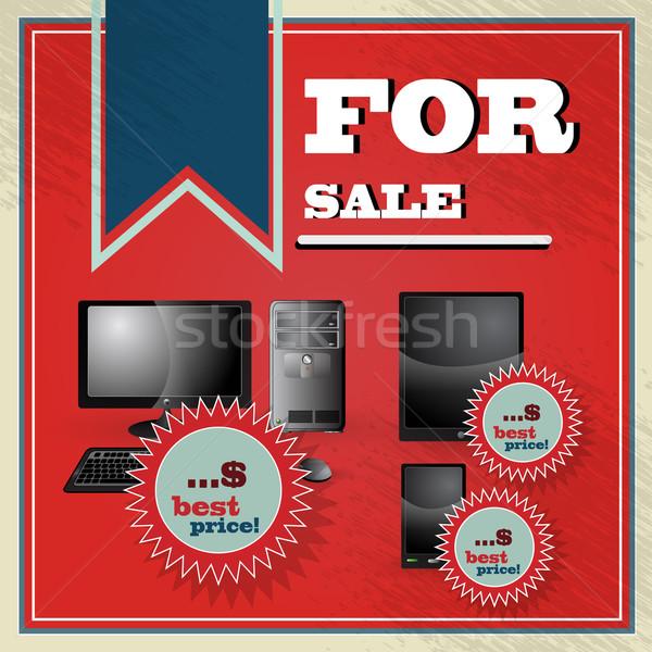 Elegáns klasszikus legjobb ár ajánlat szett pc Stock fotó © glyph