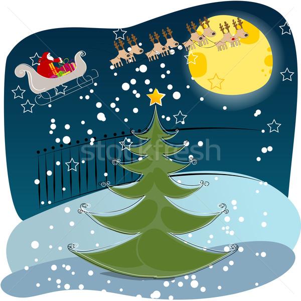 Cute Christmas greeting card Stock photo © glyph